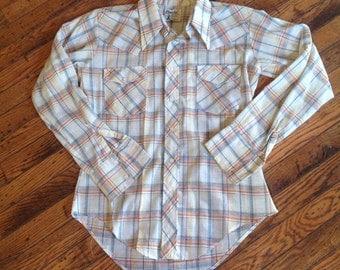 Vintage Men's Monzini Monticello Shirt Western Sz M