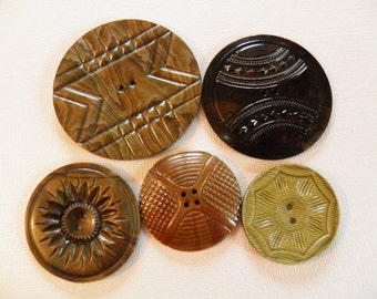 Celluloid Overlay Button Assortment