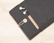 iPad Pro sleeve, iPad Air cover, iPad Pro 9.7 case, iPad Air 2 sleeve - Herringbone grey -