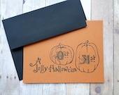 Halloween Note Cards Pumpkins Oct. 31st Retro Vintage Halloween