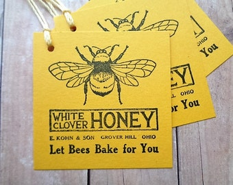 Honey Bee Baked Goods Food Tags Honey Jar Tag