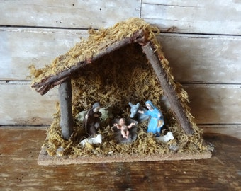 Vintage Christmas  Nativity  Sweet Size