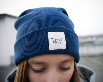 Paperboat Denim Beanie Organic / Made in EU
