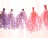 Spring Pink Lavender and Lilac Tassel Garland - Showers, Parties and Weddings