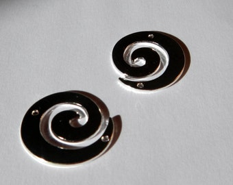 Silver Swirl Charms