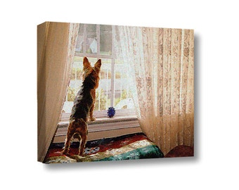 Small Canvas Wall Art Decor Yorkie Yorkshire Terrier