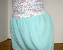 Pretty Girl / Crossdresser Lacey Buttery Soft Skirt Slip for your Sissy Panties Sizes XS S M L XL XXL