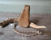 Buffalo Leather Neck Pouch
