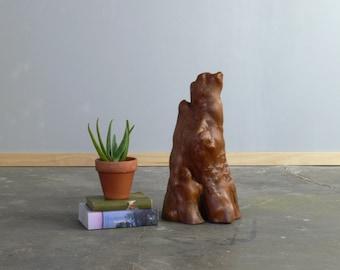 Mid Century Burlwood Sculpture