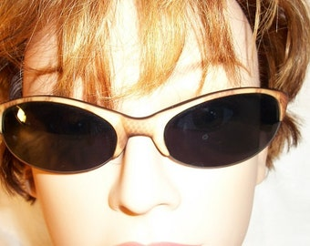 Vintage Very Cool Optical Quality Snakeskin Sunglasses