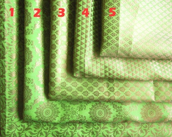 bundle of fabrics, brocade fabric bundle, set of 4 brocade fabrics - 4 yards total