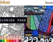 25% Off - Bear coloring, coloring book, adult coloring book, coloring pages, adult coloring pages, coloring book for adults, printable color
