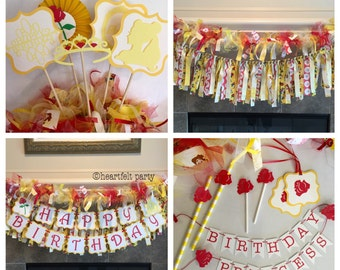 Beauty and the Beast Birthday Party - Princess Belle Birthday Party- Beauty and the Beast Party- Beauty and the Beast Party Decorations-