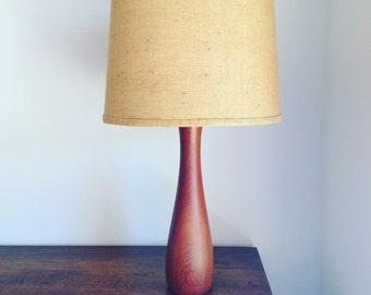 Midcentury teak table lamp by RW Norway