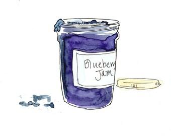 Blueberry Jam - Original illustration from book