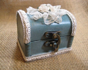 Ring Bearer Pillow Alternative  Rustic Wedding Ring Bearer Box