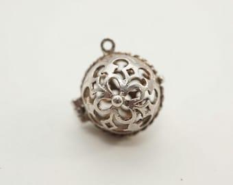 Stunning Rare Vintage Sterling Orb Locket Charm - Opens