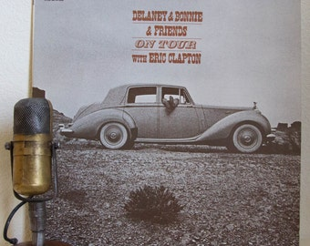 "ON SALE Delaney & Bonnie ( w/Eric Clapton and George Harrison) Vinyl  1970s Classic Rock Soul ""(LIVE)On Tour"" (1980s Atco Re-issue w/""Poor E"
