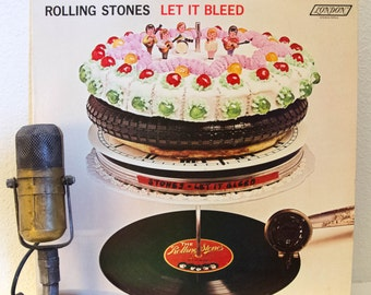 "ON SALE Rolling Stones Vintage Rock 1960s Classic Rock Blues Record Vinyl ""Let it Bleed"" (1980's re-issue NPS 4 Stereo- London Records - No"
