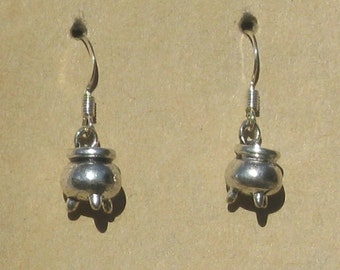 Pewter Cauldron Earrings