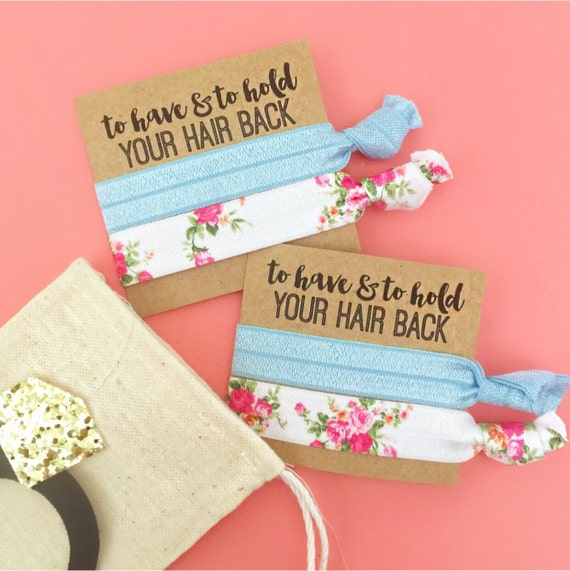 Double Card Party Favor Hair Ties