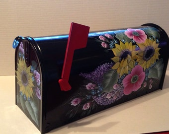 Custom handpainted mailbox, personalized with house number
