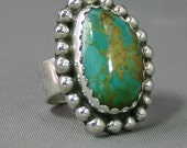 Ladies Turquoise and silver ring  modernest,  JS-rg-499