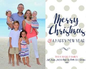 Seaside Christmas - Custom Photo Christmas Card