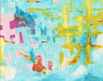 Michael Miller Vignette Aqua Reflecting Pool Fabric - 1 yard