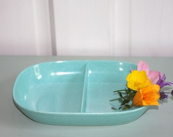 Turquoise Texas Ware serving dish