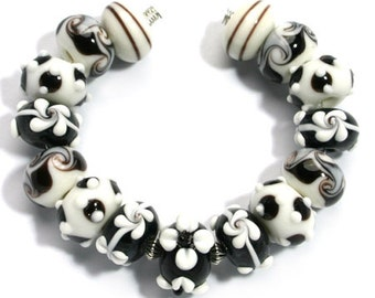 Black and White Lampwork
