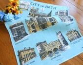 Unused Vintage City Of Bath England Dishtowel Vintage Souvenir England Dish Towel City Of Bath