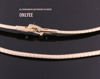 10PCS-3.3mmBright Gold Plated Brass Snake Chain Collar choker Necklaces(E2904G)