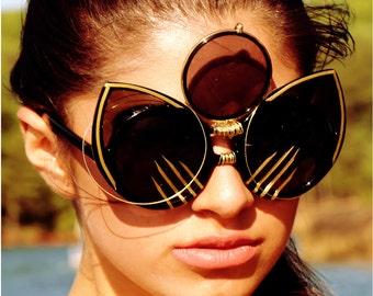 Emmanuel Vaughn's Nine Lives - cateye sunglasses - custom sunglasses - cateye frames – cateye glasses - fashion sunglasses - cateye – art