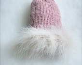 Alpaca Pink coat for chihuahua with feathers Chihuahua winter fashion High Fashion for small dogs Pink knit sweater chihuahua