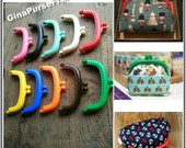 10pieces - 9cm (3.5 inch) Candy color Plastic purse frame, Jelly clip, Kiss lock frame, purse frame (10colors)