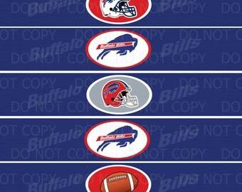 Printable DIY Football Theme Water Bottle Labels  INSTANT DOWNLOAD
