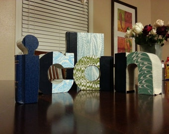 Book Letters - Mini Book Letters - Hand Cut - Decorative Vintage  Books Cut Into Small Block Letters - Your Choice