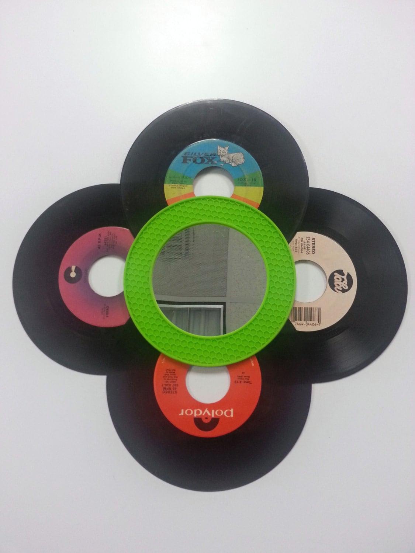Vinyl Record Mirror Vintage 45 Albums Decorative Wall