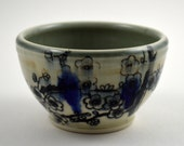 Great Wedding Gift, Ring Dish! Grey, blue and white porcelain  ring dish or trinket bowl with cherry blossom imagery