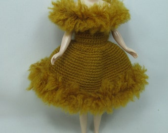 Handcrafted crochet knitting dress outfit clothes for Blythe doll # 200-31