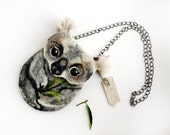 Koala bear coin purse,Shoulder Bag,Ready to Ship Hand made gift for her