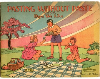 Pasting Without Paste 1940 Vintage Book