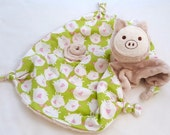 Unique Baby Gift, Baby Boy, Lovey Blanket, Security Blanket, Pig Stuffed Animal, Pig Blanket, Baby Toy, Plushie, Personalized Baby Gift
