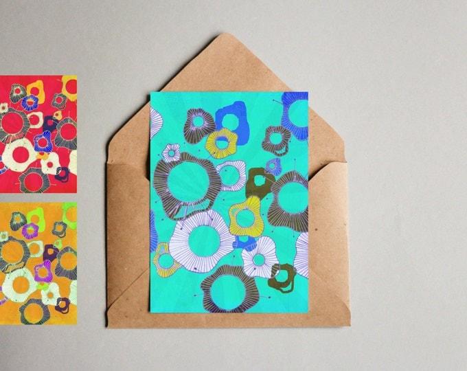 Notecard 3 Pack Sea Flowers
