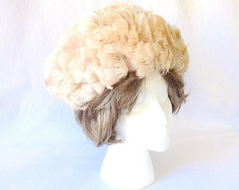 1960s Feather Wig Hat