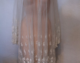 Stunning Antique Victorian All Netting Lace Dress or Night Gown