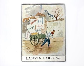 Lanvin Perfume Magazine Ad Page