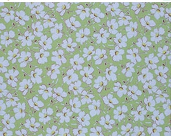 ON SALE Gypsy Caravan Blue Daisy Floral Amy Butler Floral  Quilt Fabric by the 1/2 yard #86c