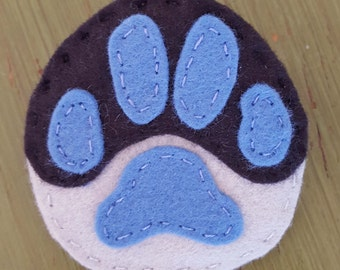 Fursuit Felt Paw Print Accessory Custom Commission